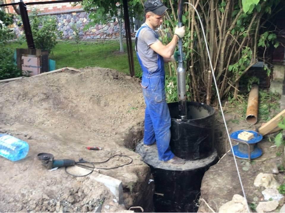 Установка насоса в скважину цена в московской области