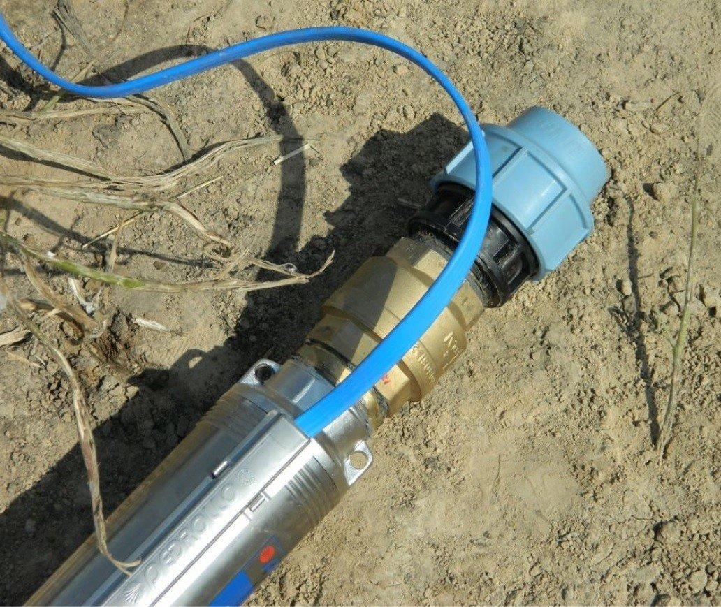 Замена обратного клапана в скважине на воду